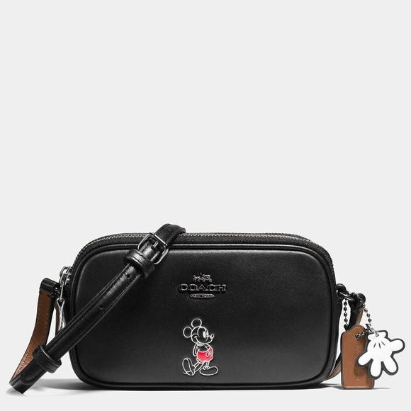 Coach Handbags - Mickey Mouse Coach Disney Leather Crossbody Bag